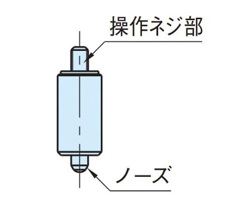 インデックスプランジャー(ノブ無し) WDX20N-M8-SUS