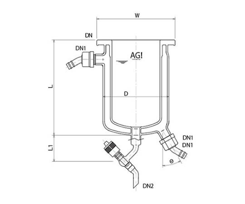 [Discontinued]Full Jacket Type Reaction Vessel with Drain Valve and others