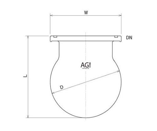 Separable Spherical Reaction Vessel with O-Ring Groove 3020-20/150-G