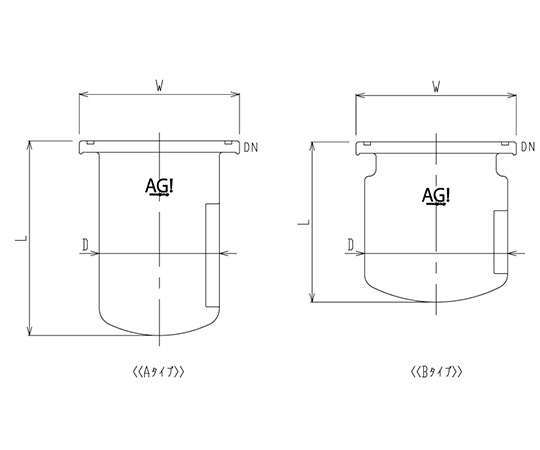 Separable Reaction Vessel with O-Ring Groove 3026-2/100B-G