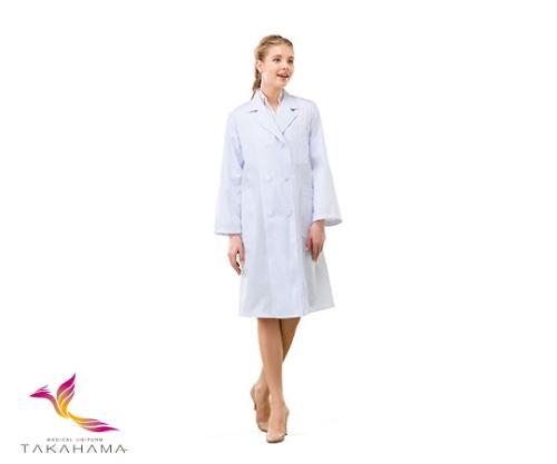 女子コート型実習白衣(ダブル) 長袖 CP-1001