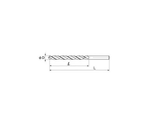 ストレートシャンク ロングドリル 12.3×250 LSD12.3X250