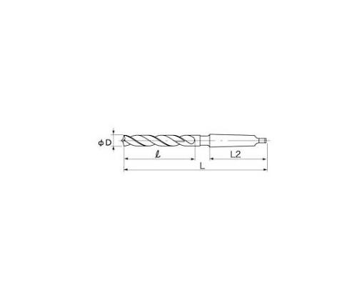 鉄骨用テーパシャンクドリル 17.5mm (MT3) TTD17.5-3