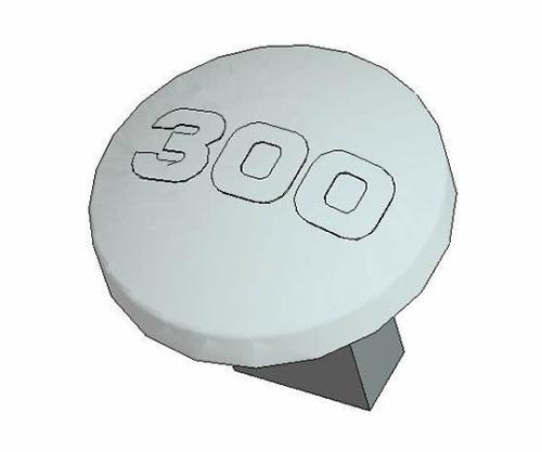 [取扱停止]温度ボタン 300℃ B1766