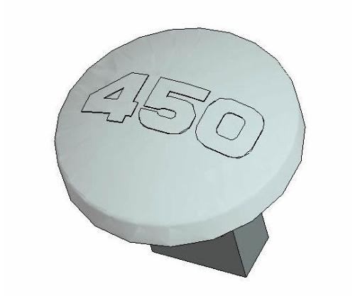 [取扱停止]温度ボタン 450℃ B1771