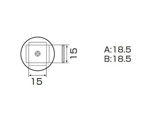 SMDリワーク用ノズル PLCC 17.5×17.5mm A1135B