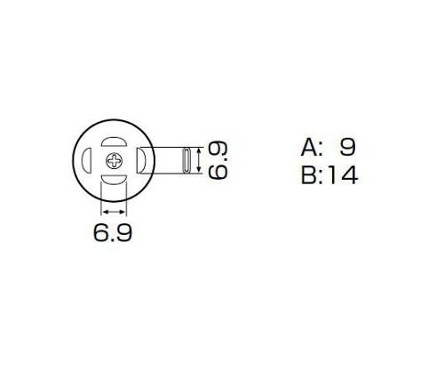 SMDリワーク用ノズル PLCC 7.3×12.5mm A1139B