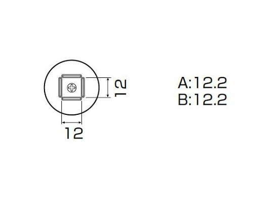 SMDリワーク用ノズル QFP12X12用 A1262B