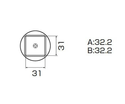 SMDリワーク用ノズル QFP32X32用 A1265B