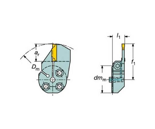 コロターンSL コロカット1・2用端面溝入れブレード
