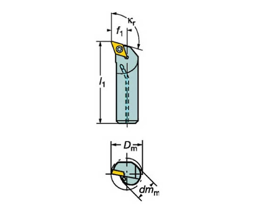コロターン107 ポジチップ用ボーリングバイト