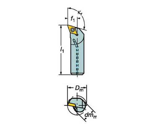 コロターン107 ポジチップ用ボーリングバイト A20SSDQCL11