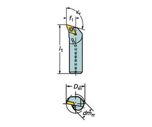コロターン107 ポジチップ用ボーリングバイト A20SSDQCL11R