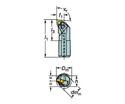 T-Ma× P ネガチップ用ボーリングバイト