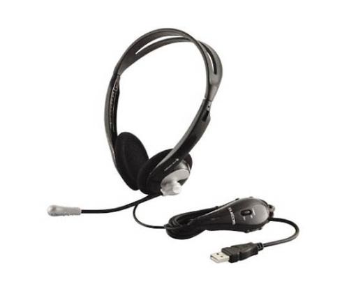 [取扱停止]USBヘッドセット 両耳オーバーヘッド(ブラック) HSHP06USV