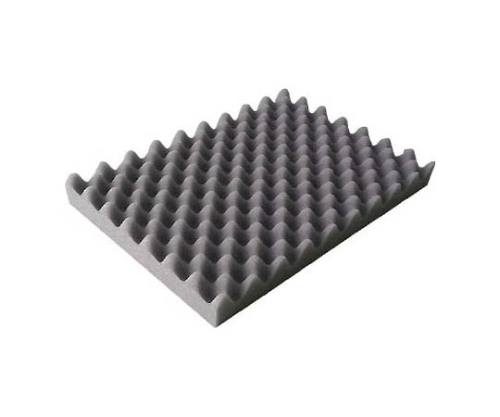 波状加工ウレタンスポンジシート ソフト 20mm 1m×1m 黒