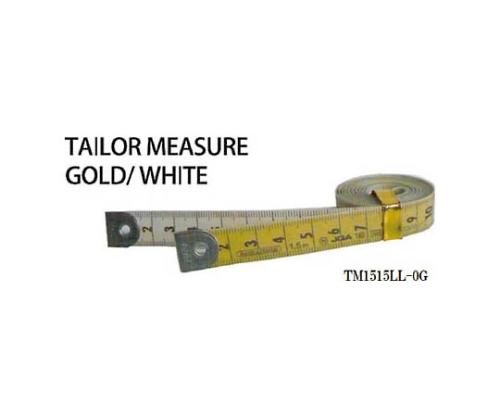 テーラーメジャー1.5m 0点 白/ゴールド