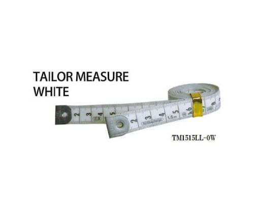 テーラーメジャー1.5m 0点 白/白