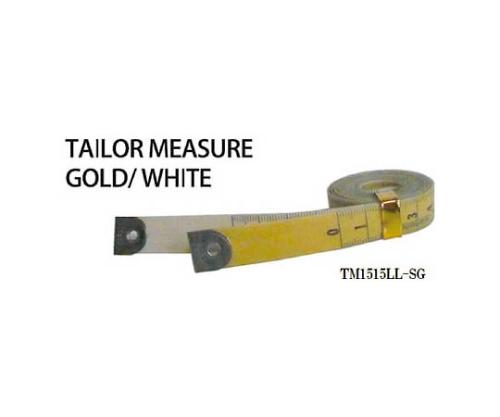 テーラーメジャー1.5m 余白有 白/ゴールド