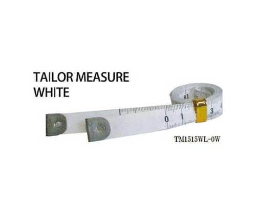 テーラーメジャー1.5m 0点 白/白 TM1515WL0W