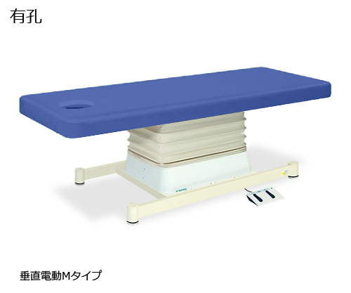 有孔垂直電動Mタイプ 幅70×長さ190×高さ46~79cm ライトブルー TB-655U