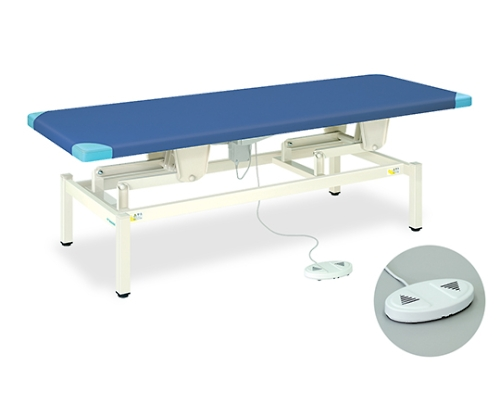 電動ライトベッド 幅65×長さ180×高さ45~83cm ライトブルー/クリーム TB-564