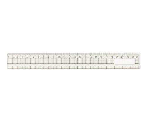アクリル方眼定規 25cm(溝付) 10900