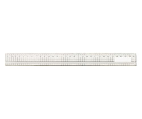アクリル方眼定規 30cm(溝付・エッジ付) 10903