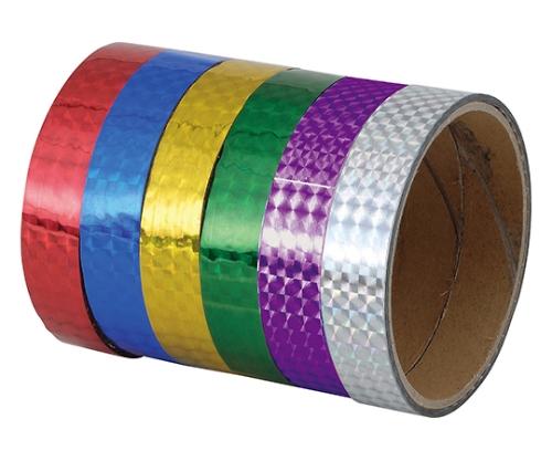 ホログラムテープ(10本組)緑 14092