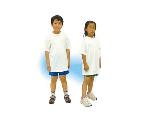 [取扱停止]Tシャツ 白 J(8~10才用) 38001