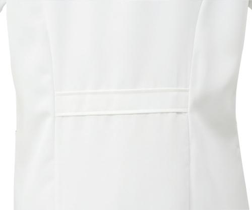 診察衣 レディス 長袖S 白 71-231 S