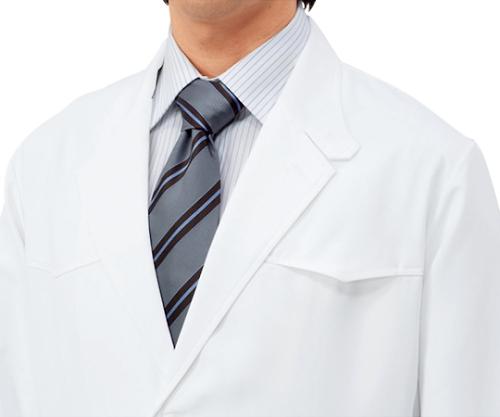 診察衣 メンズ 長袖S 白 71-831 L