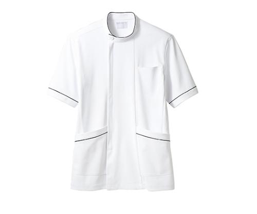 ケーシー(メンズ)半袖 白ネイビー 72-1218 L