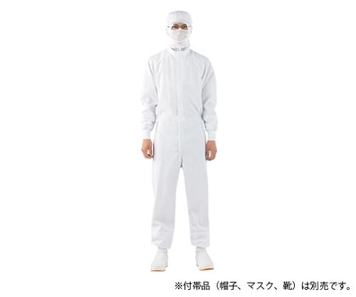 オーバーオール 男女兼用 長袖 白 DF8901-2 S