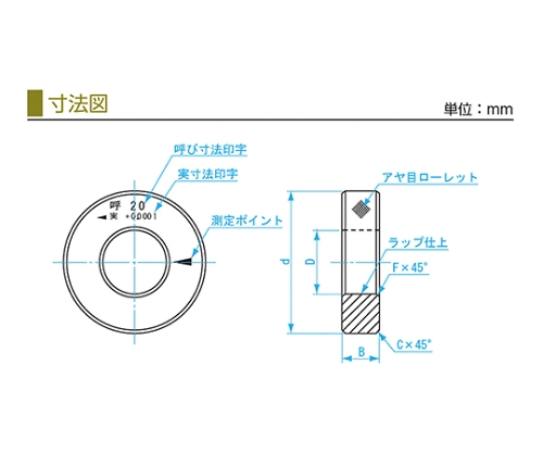 鋼リングゲージ 43.8mm SRG 43.8mm