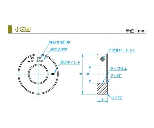 鋼リングゲージ 44.3mm SRG 44.3mm
