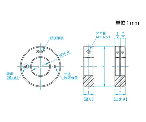 鋼限界リングゲージ h7 φ20 LR20-h7