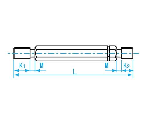 限界ねじプラグ検査用 M8×P1.0 GPIP2-0810