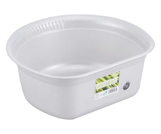 [取扱停止]ホーム&ホーム 丸型 洗い桶 シルバー