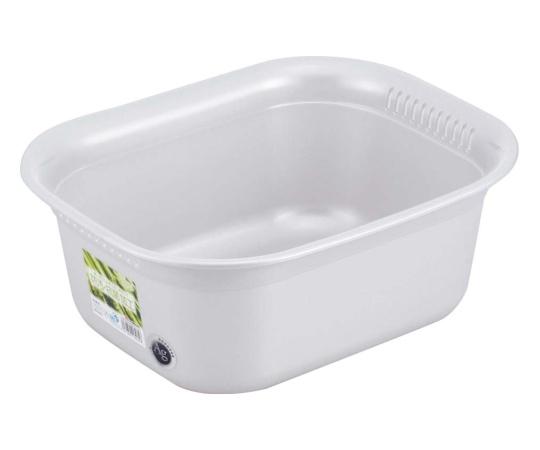 [取扱停止]ホーム&ホーム 角型 洗い桶 シルバー 7390660