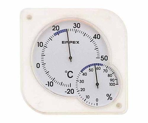 シュクレmidi温・湿度計 76×75×13mm 35g(ブリスター)