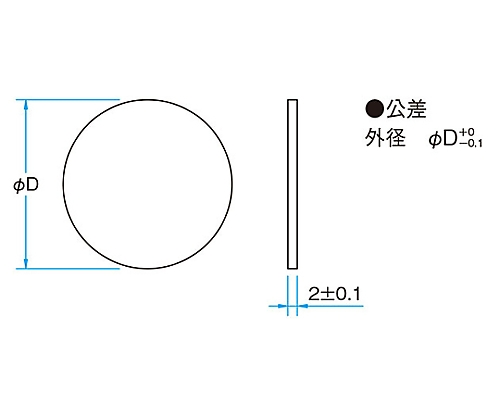 紫外光用反射型固定式NDフィルター φ20mm 透過率80%