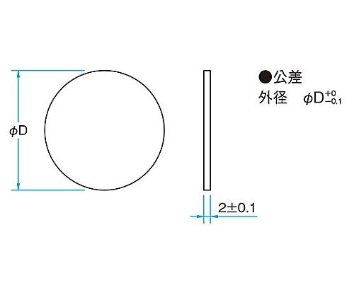 紫外光用反射型固定式NDフィルター φ20mm 透過率20% FNDU-20C02-20
