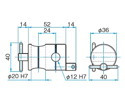 クロスクランプ CCHN-20-12