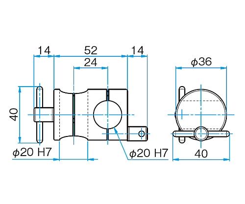 クロスクランプ CCHN-20-20