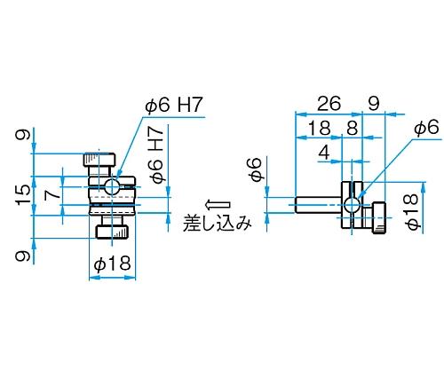 回転式クロスクランプ CRHN-6-6
