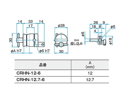 回転式クロスクランプ CRHN-12.7-6