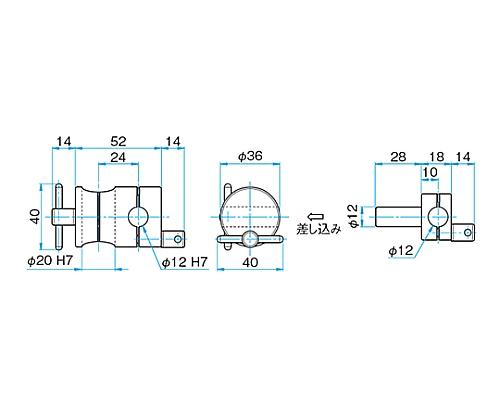 回転式クロスクランプ CRHN-20-12