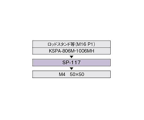 KSPA-806M・1006M用下面スペーサー SP-117
