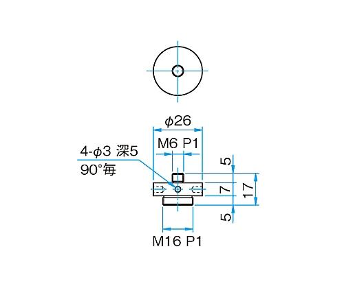 M16P1・M6P1変換スペーサー SP-121-1